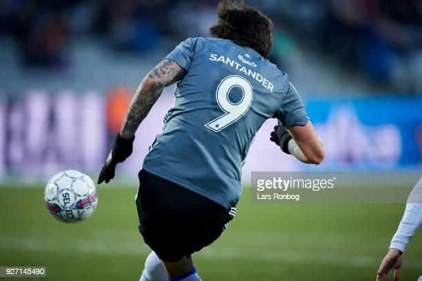 Federico Santander of FC Copenhagen scores the 10 goal during the Danish Alka Superliga match between AGF Aarhus and FC Copenhagen at Ceres park on...