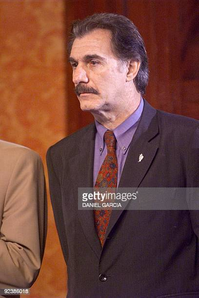 Federico Storani, minister of the Interior of the future Argentine government that is presided over by Fernando de la Rua, stands 24 November 1999 in...