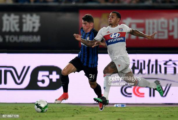 Federico Valietti of FC Internazionale in action during the 2017 International Champions Cup match between FC Internazionale and Olympique Lyonnais...