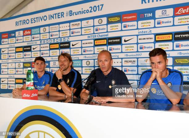 Federico Valietti Stefano Vecchi Roberto Samaden and Zinho Vanheusden speak with the media during a FC Internazionale press conference on July 10...