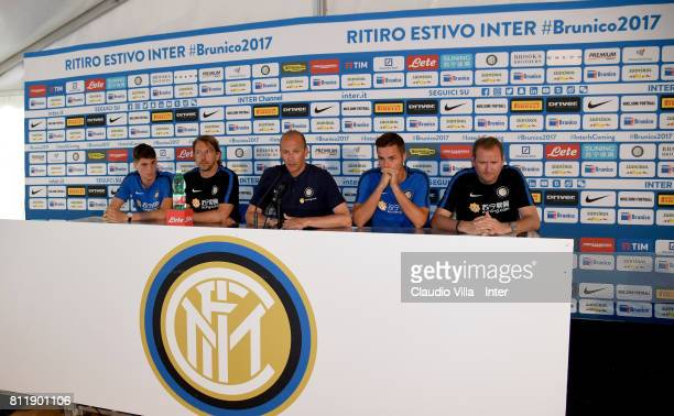 Federico Valietti Stefano Vecchi Roberto Samaden Zinho Vanheusden and Luigi Crippa speak with the media during a FC Internazionale press conference...