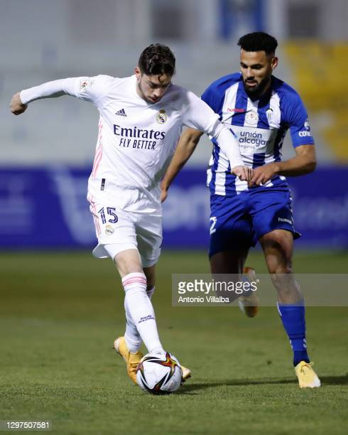 Federico Valverde during the Copa del Rey match between Alcoyano and Real Madrid on January 20, 2021 in Madrid, Spain.