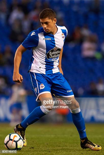 Federico Valverde of Deportivo de La Coruna in action during the Pre Season Friendly match between Deportivo de La Corua and West Bromwich Albion at...