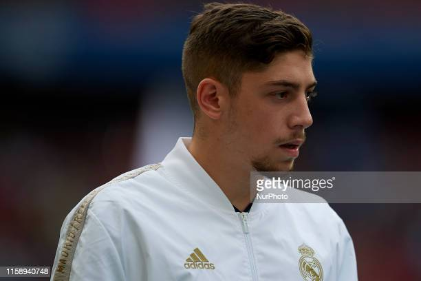Federico Valverde of Real Madrid during the Audi cup 2019 3rd place match between Real Madrid and Fenerbahce at Allianz Arena on July 31 2019 in...