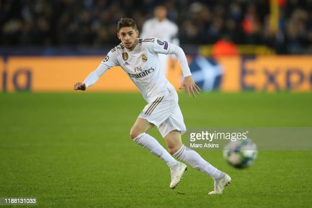 Federico Valverde of Real Madrid during the UEFA Champions League group A match between Club Brugge KV and Real Madrid at Jan Breydel Stadium on...
