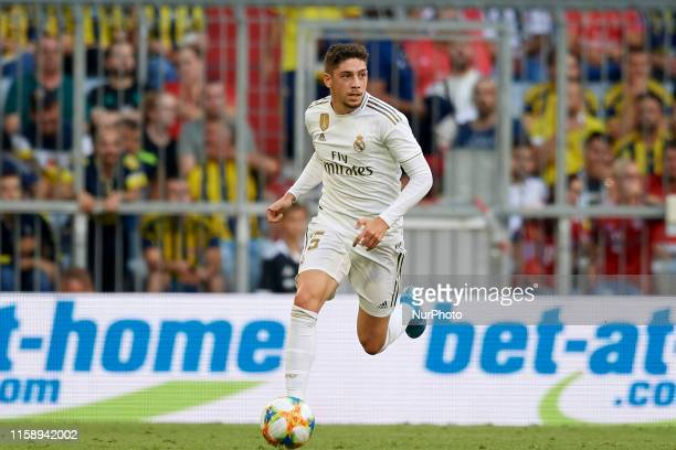 Federico Valverde of Real Madrid in aciton during the Audi cup 2019 semi final match between Real Madrid and Tottenham Hotspur at Allianz Arena on...