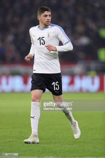 Federico Valverde of Uruguay during the International Friendly and official opening of the stadium between Hungary and Uruguay at Stadium Puskas...