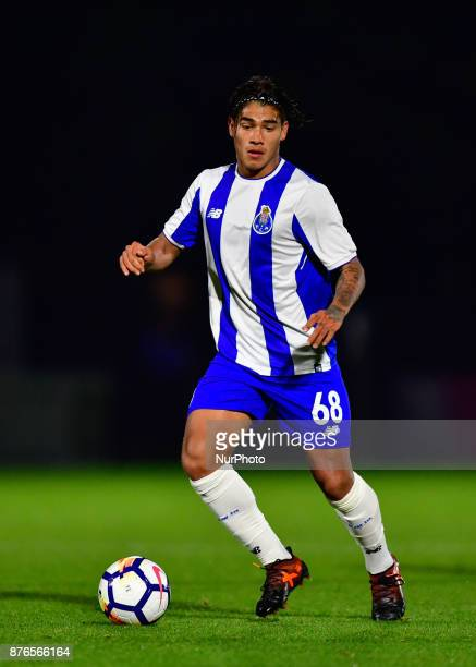 Federico Varela of Porto U23s in action during Premier League International Cup Group E match between Arsenal Under 23s vs FC Porto Under 23s at...