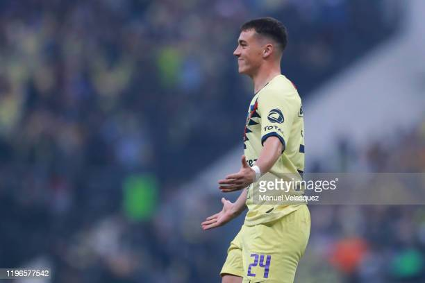 Federico Viñas of America celebrates the first scored goal of America during the Final second leg match between America and Monterrey as part of the...