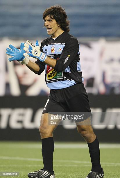 Federico Vilar of Monarcas Morelia celebrates in the second half against the New England Revolution during the SuperLiga 2010 championship game on...