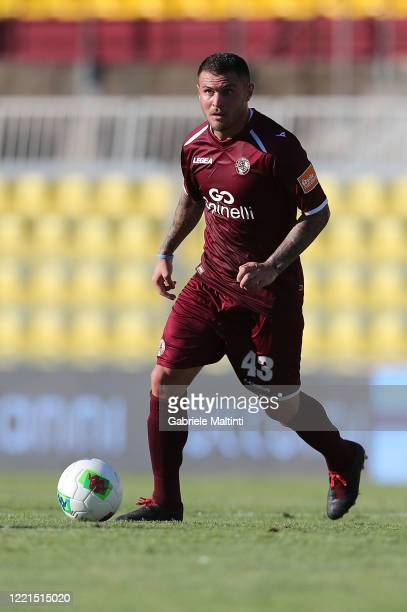Federico Viviani of AS Livorno Calcio in action during the serie B match between AS Livorno and AS Cittadella on June 20 2020 in Livorno Italy
