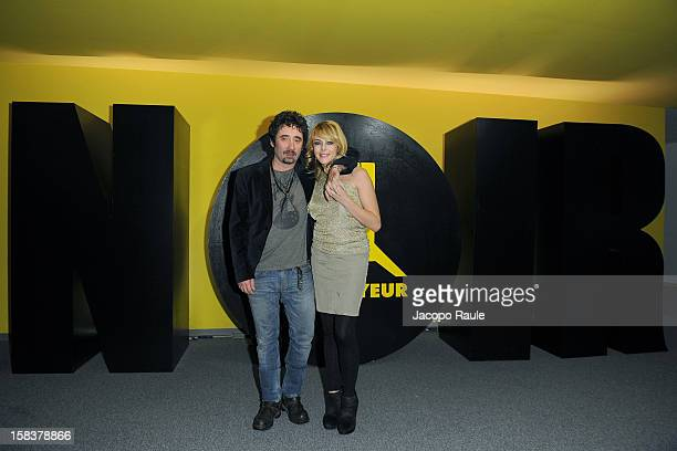 Federico Zampaglione and Claudia Gerini attend the 22th Courmayeur Noir In Festival on December 14 2012 in Courmayeur Italy