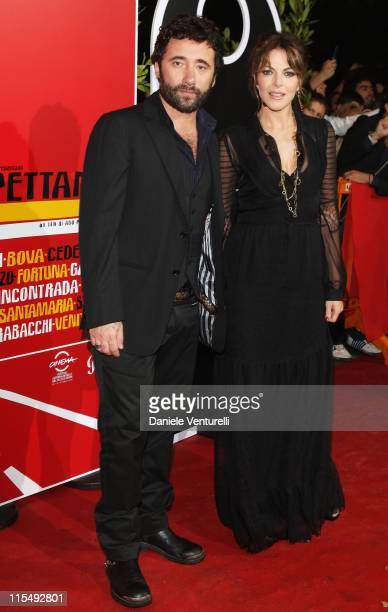 Federico Zampaglione and Claudia Gerini attend the Aspettando Il Sole premiere during the 3rd Rome International Film Festival held at the SalaCinema...