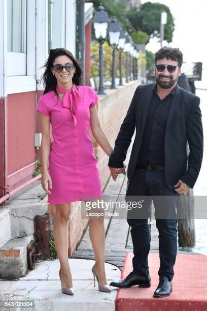 Federico Zampaglione and Giglia Marra are seen during the 74th Venice Film Festival on September 7 2017 in Venice Italy