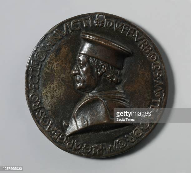 Federigo da Montefeltro, Duke of Urbino, Italian, Medalist: Savelli Sperandio , ca. 1474–82, Italian, Bronze, Diameter: 89 mm, Medals and Plaquettes.