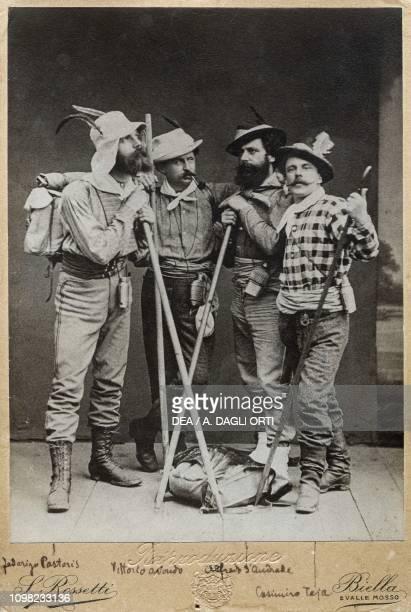 Federigo Pastoris Vittorio Avondo Alfredo d'Andrade and Casimiro Teja also known as Puff in mountain clothing 1871
