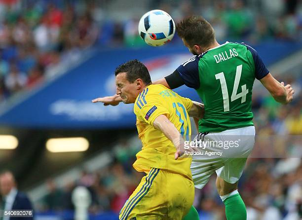Fedetskiy of Ukraine in action against Dallas of Republic of Ireland during the UEFA EURO 2016 Group E match between Ukraine and Republic of Ireland...