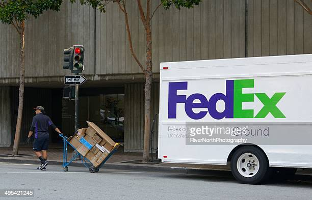 fedex ground - fedex truck stock pictures, royalty-free photos & images