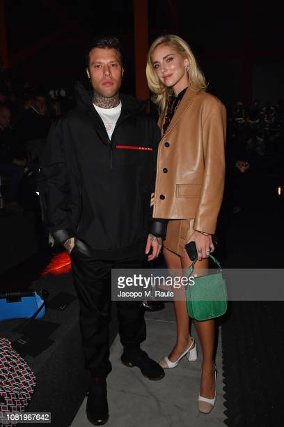 Fedez and Chiara Ferragni attend Prada F/W19 Men's and Women's Fashion Show on January 13 2019 in Milan Italy