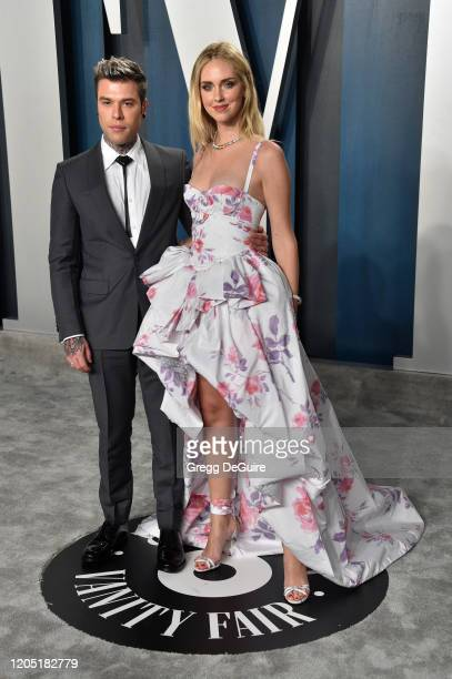 Fedez and Chiara Ferragni attend the 2020 Vanity Fair Oscar Party hosted by Radhika Jones at Wallis Annenberg Center for the Performing Arts on...