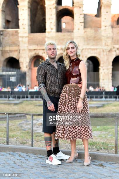 Fedez and Chiara Ferragni attend the Cocktail at Fendi Couture Fall Winter 2019/2020 on July 04 2019 in Rome Italy