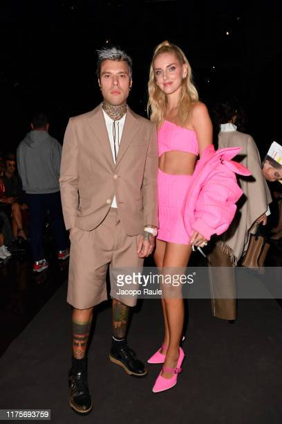 Fedez and Chiara Ferragni attend the Fendi fashion show during the Milan Fashion Week Spring/Summer 2020 on September 19 2019 in Milan Italy