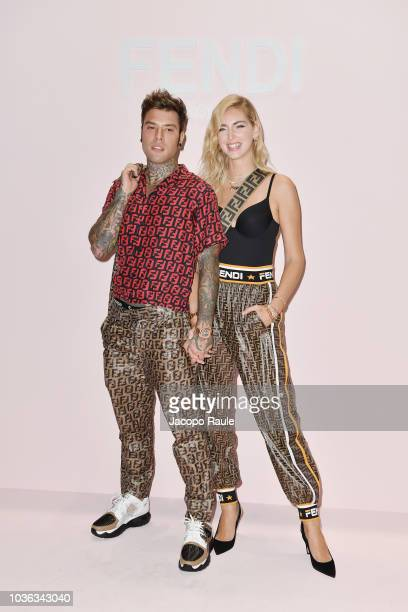 Fedez and Chiara Ferragni attend the Fendi show during Milan Fashion Week Spring/Summer 2019 on September 20 2018 in Milan Italy