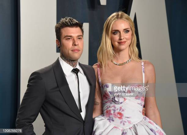Fedez and Chiara Ferragni attends the 2020 Vanity Fair Oscar Party hosted by Radhika Jones at Wallis Annenberg Center for the Performing Arts on...