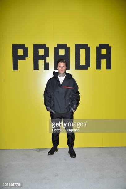 Fedez attends Prada F/W19 Men's and Women's Fashion Show on January 13 2019 in Milan Italy