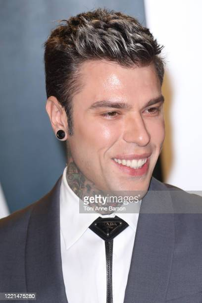 Fedez attends the 2020 Vanity Fair Oscar Party at Wallis Annenberg Center for the Performing Arts on February 09, 2020 in Beverly Hills, California.