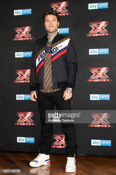 Fedez attends X Factor 2018 photocall at Teatro Linear Ciak on October 22 2018 in Milan Italy