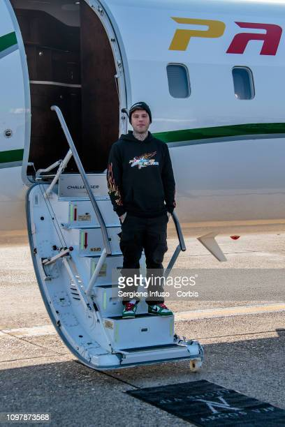 Fedez presents his new Album Paranoia Airlines at Aeroporto di Linate on January 22 2019 in Milan Italy