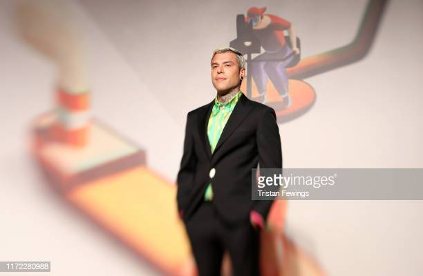 Fedez walks the red carpet ahead of the Chiara Ferragni Unposted screening during the 76th Venice Film Festival at Sala Giardino on September 04 2019...