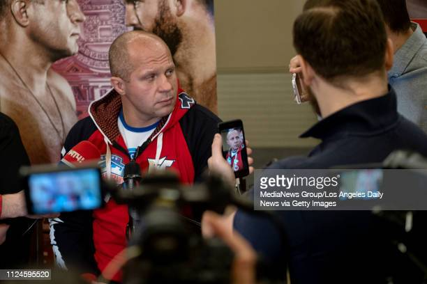Fedor Emelianenko during Bellator 214 Media Day at the Westin Los Angeles Airport in Los Angeles, Thursday, Jan 24, 2019.