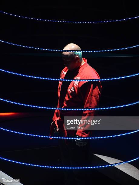 Fedor Emelianenko of Russia enters the ring prior to the bout Rizin Fighting World Grand Prix against Singh Jaideef of India during the Rizin Iza...