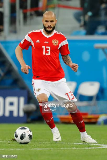 Fedor Kudriashov of Russia national team during the 2018 FIFA World Cup Russia group A match between Russia and Egypt on June 19 2018 at Saint...