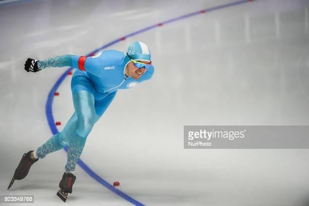 Fedor Mezentsev of Kazakhstan in 1000 meter speedskating at winter olympics Gangneung South Korea on February 23 2018