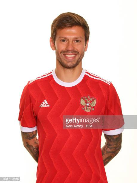 Fedor Smolov of Russia during a portrait session at the Lotte Hotel on June 13 2017 in Moscow Russia