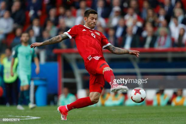 Fedor Smolov of Russia national team during the Group A FIFA Confederations Cup Russia 2017 match between Russia and Portugal at Spartak Stadium on...