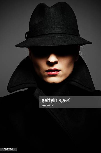 fedora - mystery stock pictures, royalty-free photos & images