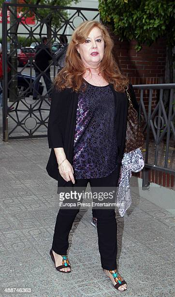 Fedra Llorente attends the funeral for Antonio Morales widower of Rocio Durcal at Sagrado Corazon church on May 7 2014 in Madrid Spain