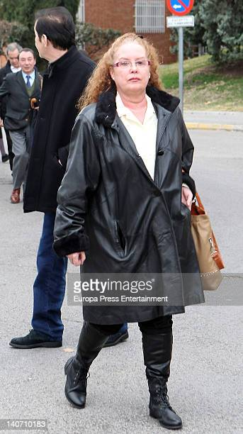 Fedra Llorente attends the funeral for Carmen Barretto Valdes who died at 97 years old at La Almudena Graveyard on March 4 2012 in Madrid Spain...