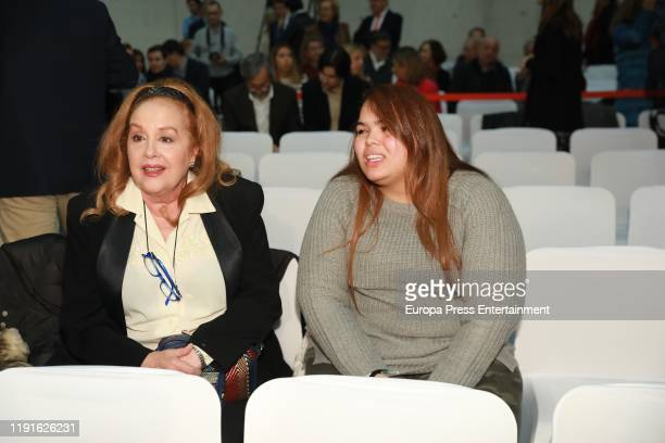 Fedra Lorente and Alejandra Morales Lorente attend 'Ciudad de la Raqueta' awards 2019 on December 02 2019 in Madrid Spain