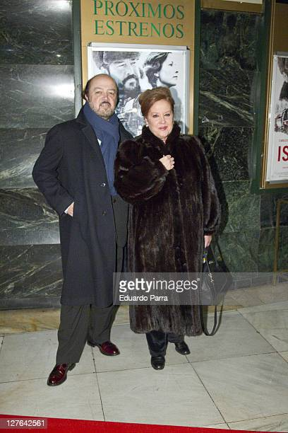 Fedra Lorente and husband attend Ispansi photocall at Capitol Cinema on March 3 2011 in Madrid Spain