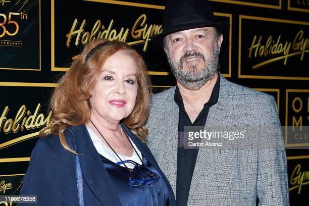 Fedra Lorente and Miguel Morales attend 'Holiday Gym' 35th anniversary party on July 05 2019 in Madrid Spain