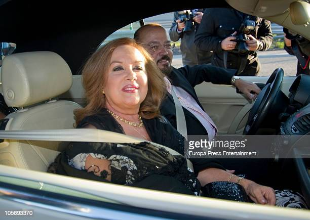 Fedra Lorente and Miguel Morales attend the wedding of Antonio Morales Jr and Barbara Suances on October 16 2010 in Madrid Spain