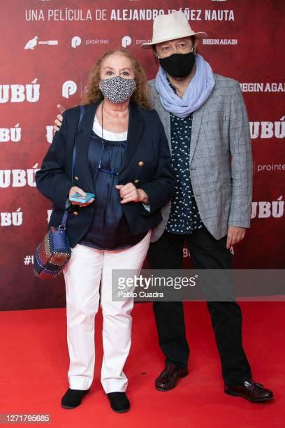 Fedra Lorente and Miguel Morales attend 'Urubu' premiere at Callao Cinema on September 10, 2020 in Madrid, Spain.