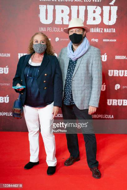 Fedra Lorente and Miguel Morales attend 'Urubu' premiere at the Callao cinema on September 10, 2020 in Madrid, Spain