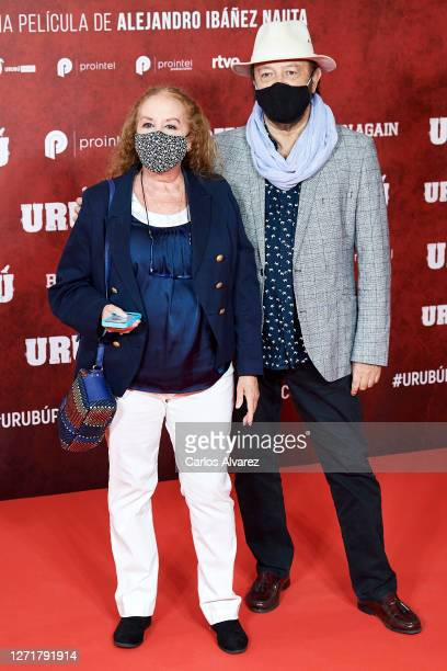Fedra Lorente and Miguel Morales attend 'Urubu' premiere at the Callao cinema on September 10, 2020 in Madrid, Spain.