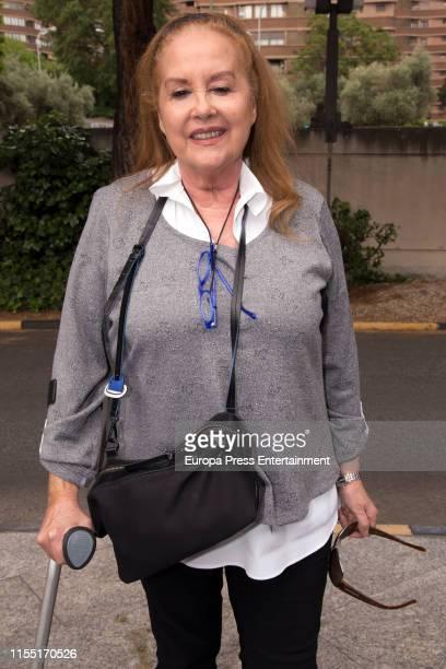 Fedra Lorente attends Chicho Ibañez Serrador funeral chapel on June 07 2019 in Madrid Spain